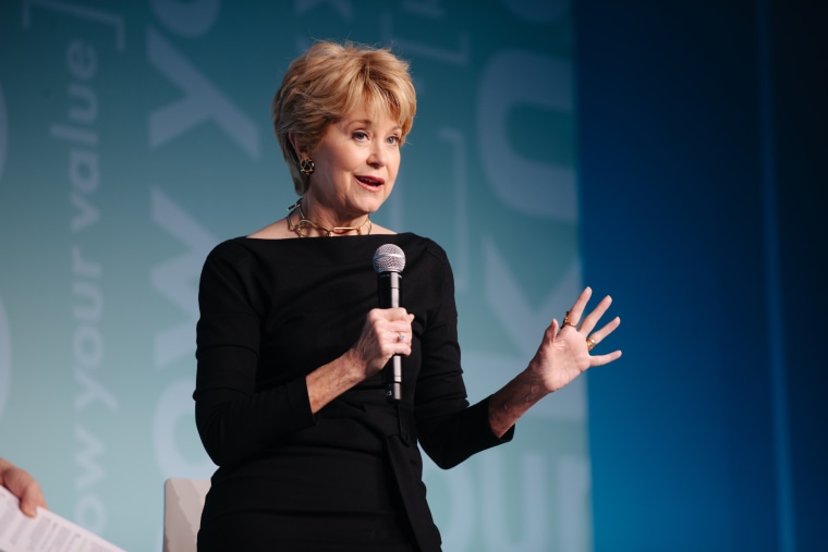Jane Pauley speaks at the Know Your Value event in New York City on Oct. 30.