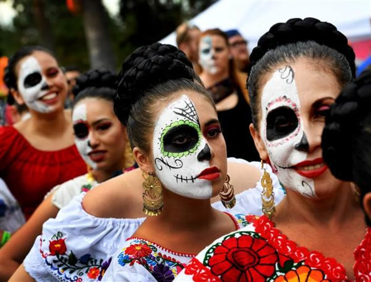 File photo of a Dia de los Muertos celebration at the Hollywood Forever cemetery in Hollywood, California.