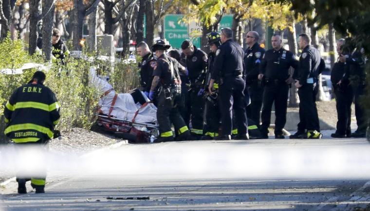 Image: Multiple deaths as man drives truck down bike path