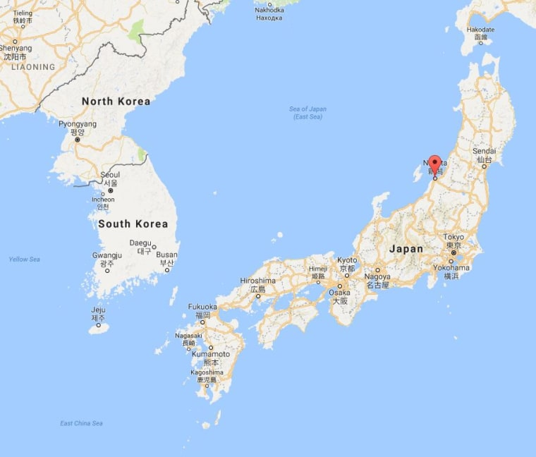 Image: A map showing the location of Niigata, Japan