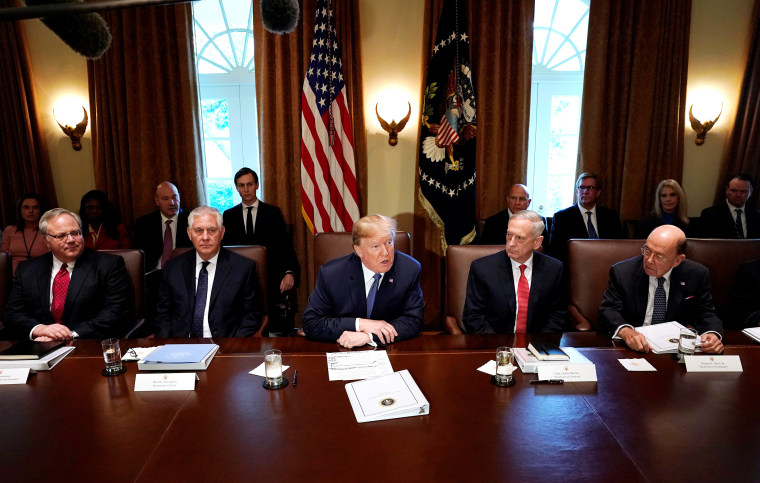 Image: U.S. President Donald Trump speaks during a cabinet meeting at the White House in Washington