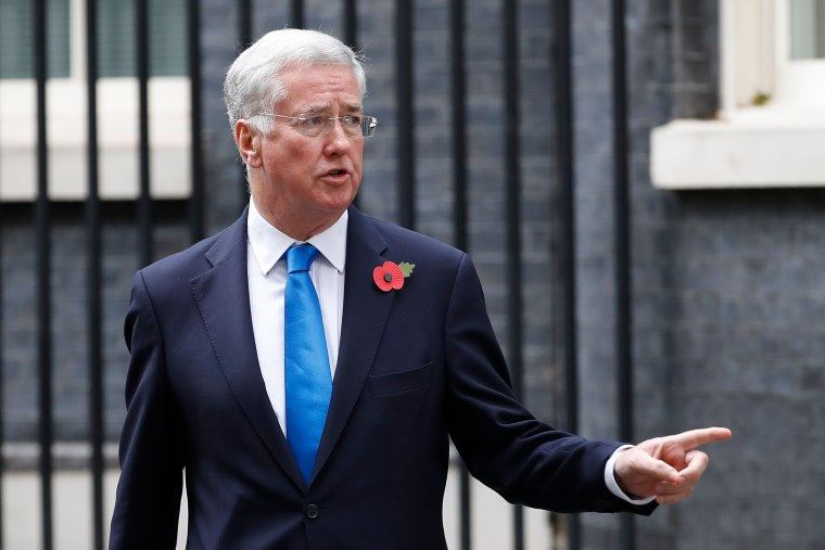Image: Britain's Defense Secretary Michael Fallon