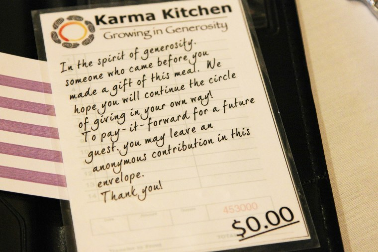 Image: The bill that comes after a meal at Karma Kitchen