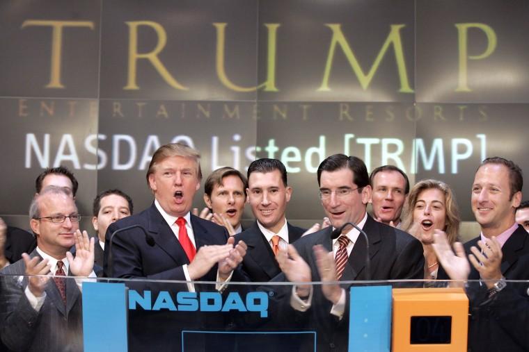 Image: Donald Trump Presides Over NASDAQ Opening