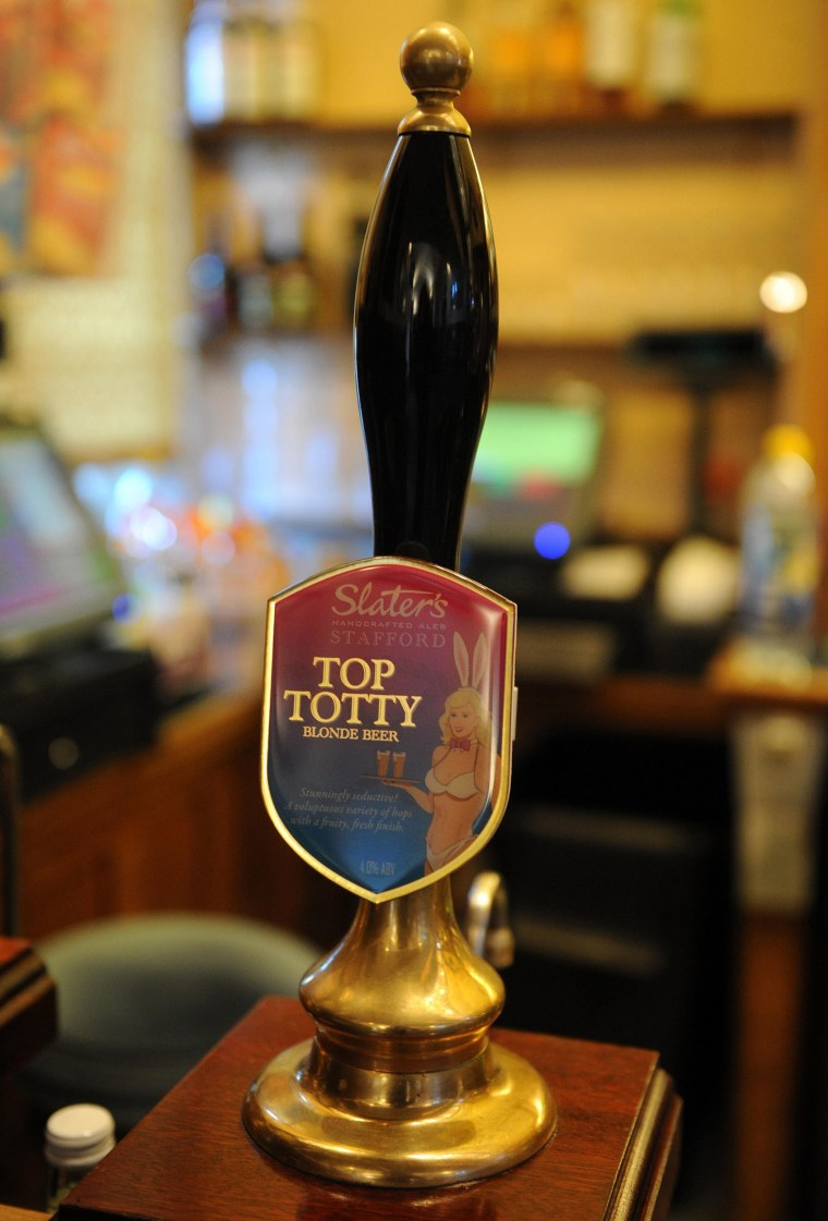 Image: Top Totty being sold in Strangers' bar