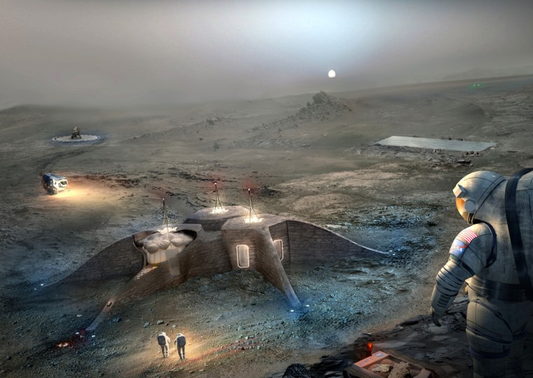 Image: The second place entry in the NASA 3-D Printed Habitat Challenge Design Competition