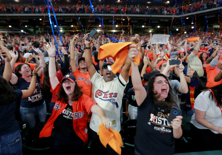Image: Houston Astros celebrate World Series win