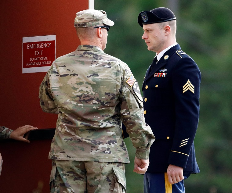 Image: U.S. Army Sergeant Bergdahl arrives at the courthouse for the seventh day of sentencing proceedings in his court martial at Fort Bragg