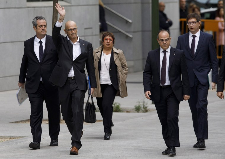 Image: Members Of The Catalan Government Attend Spain's National High Court