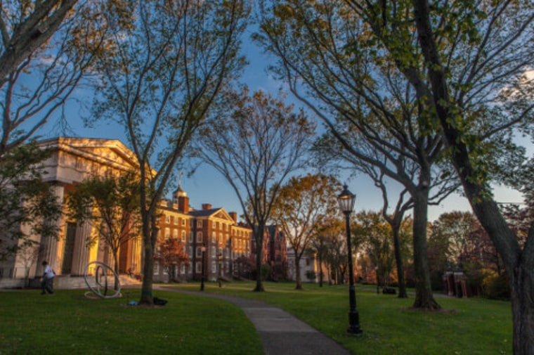 A scene from Brown University, in Providence, Rhode Island