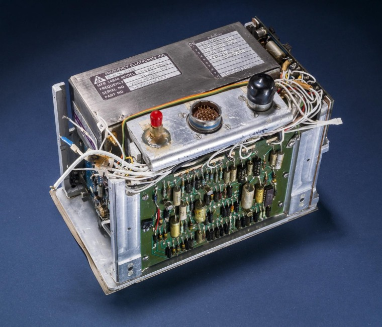 Image: This atomic clock was built for the first GPS satellites in the late 1970s.