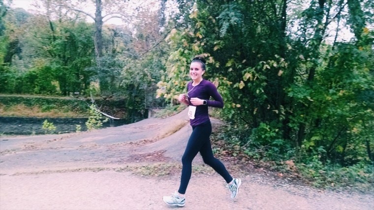 "After a year of leaving a half marathon sitting on her ""goals"" list, Barber was finally able to check it off."