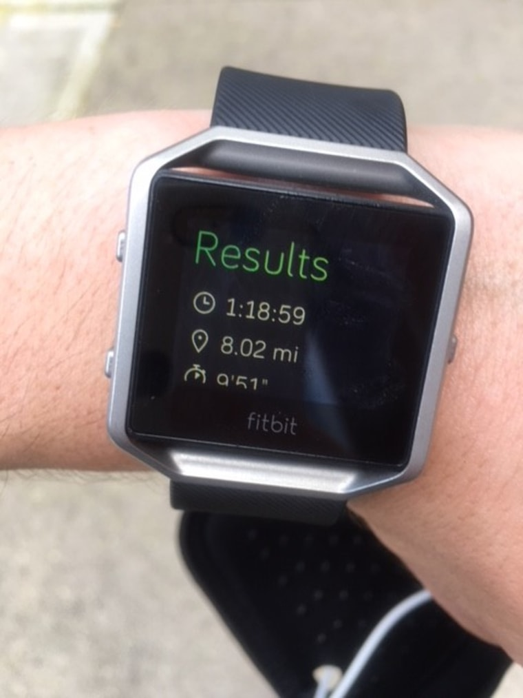 Utilizing a fitness tracker helped Barber learn how to pace herself as a long-distance runner.