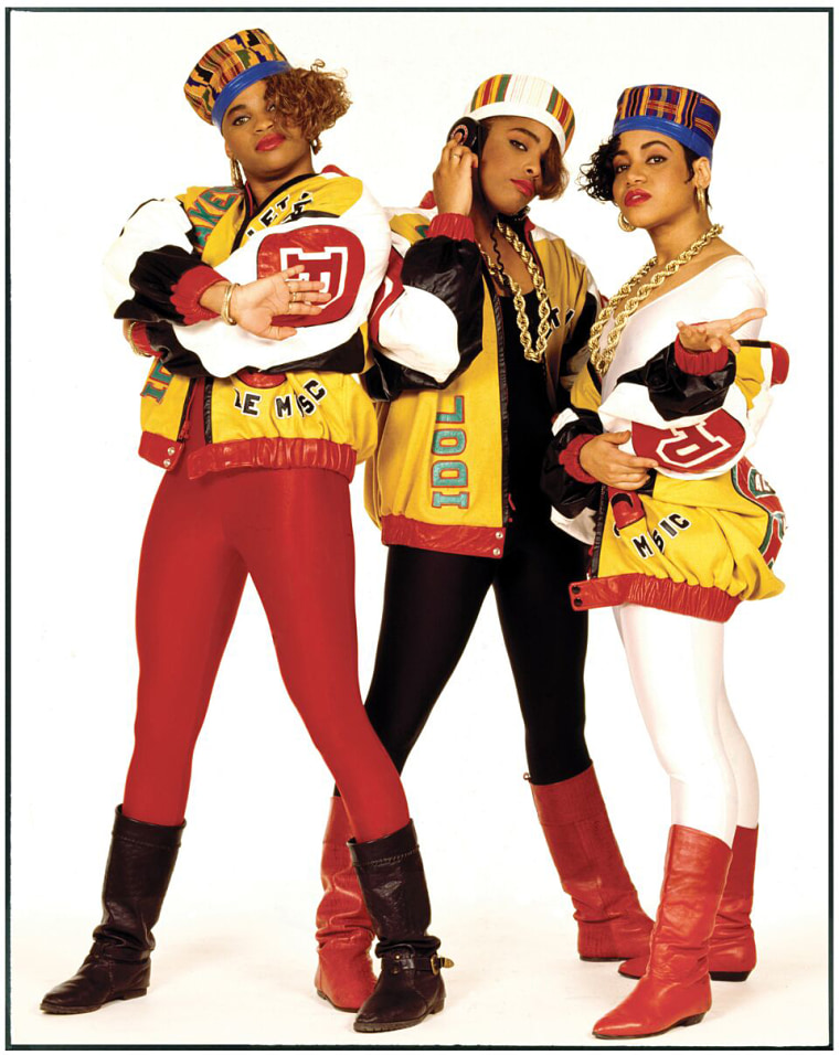Image: American hip-hop/rap trio from New York City, Salt-N-Pepa.