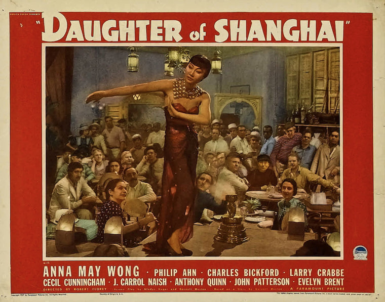 "Promotional art from ""Daughter of Shanghai,"" a film featuring Anna May Wong."