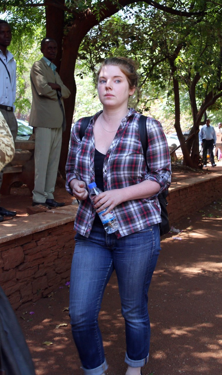 Image: Arrested U.S. citizen Martha O'Donovan appears at the Harare Magistrates Courts in Harare, Zimbabwe, Nov. 4, 2017.