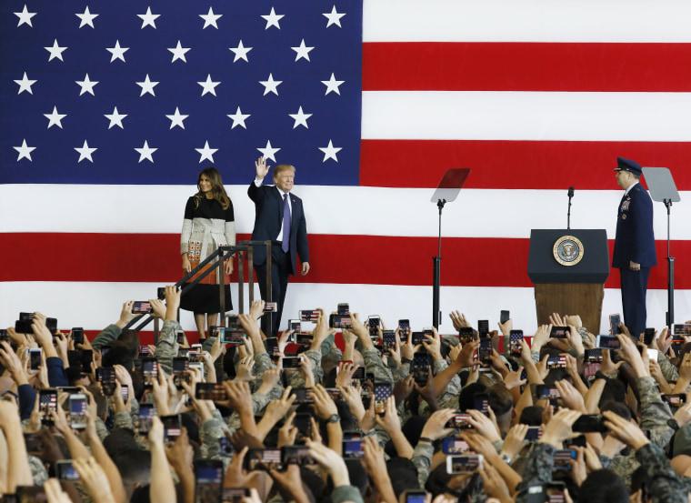 Image: President Donald J. Trump visits U.S. service members in Japan