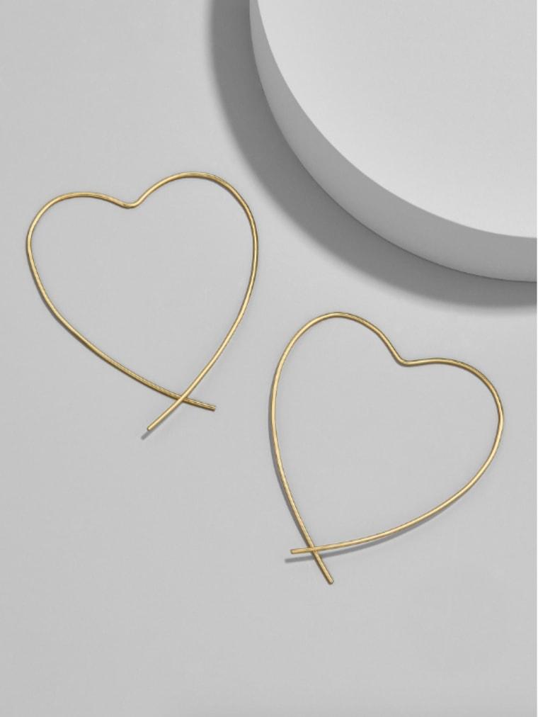 Baublebar Everyday fine Corazon heart hoop earrings