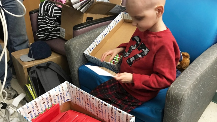Jacob Thompson, 9, received Christmas cards from around the world and celebrated the holiday early with his family before dying from stage 4 neuroblastoma on Sunday.