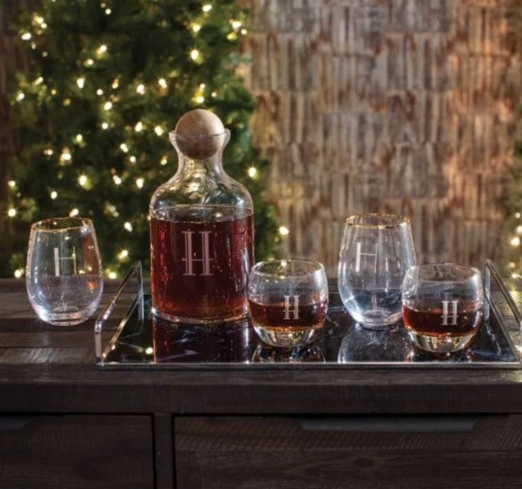 Decanter Whiskey Stopper Glasses