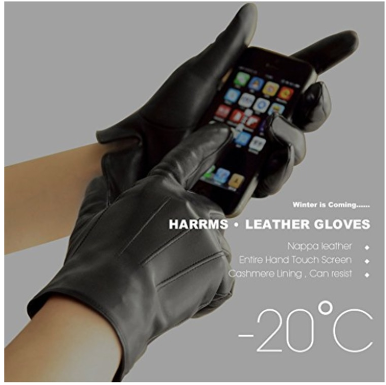 Gloves tech touch texting leather