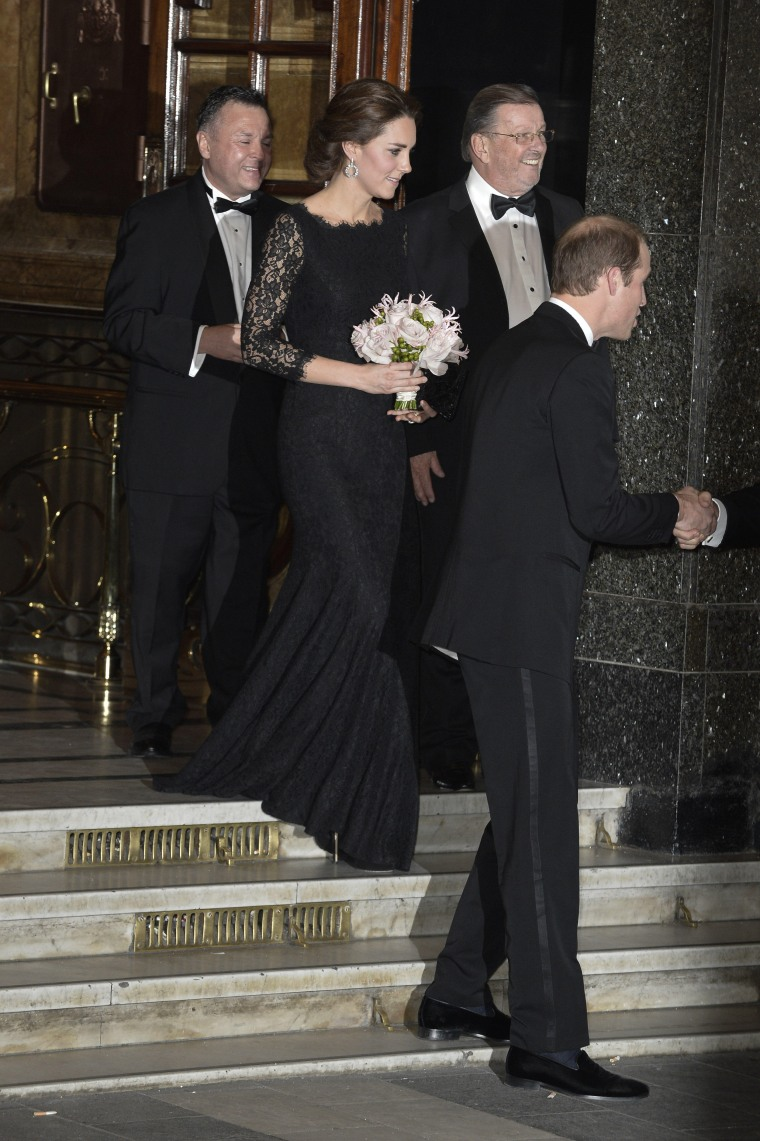 Catherine Duchess of Cambridge and Prince William leaving the Royal Variety Performance  Featuring: Prince William Duke of Cambridge,Catherine Duchess of Cambridge Where: London, United Kingdom When: 13 Nov 2014 Credit: Euan Cherry/WENN.com