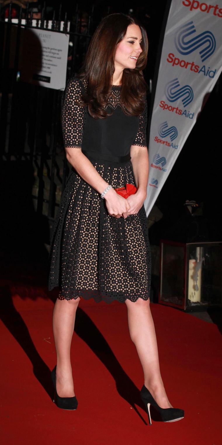 Kate attends SportsAid SportsBall gala dinner