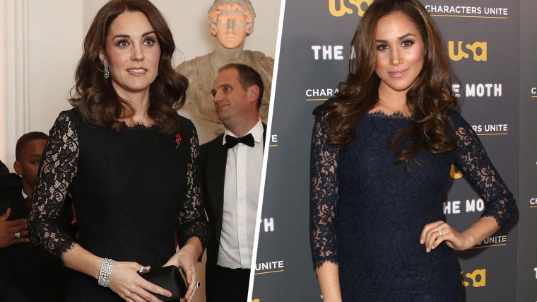 Duchess Kate in black lace