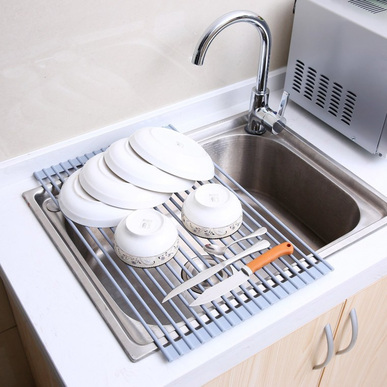 Delicieux If A Dish Drying Cabinet Isnu0027t Doable In Your Kitchen, An Over The Sink  Drainer Would Help Free Up Some Counter Space. Amazon / Amazon