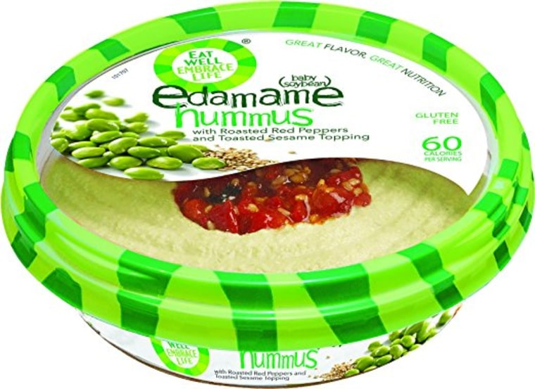 Eat Well Embrace Life Hummus Edamame with Red Pepper