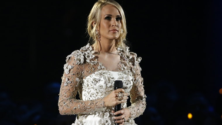 Image of Carrie Underwood at 51st Country Music Association Awards Show in Nashville.