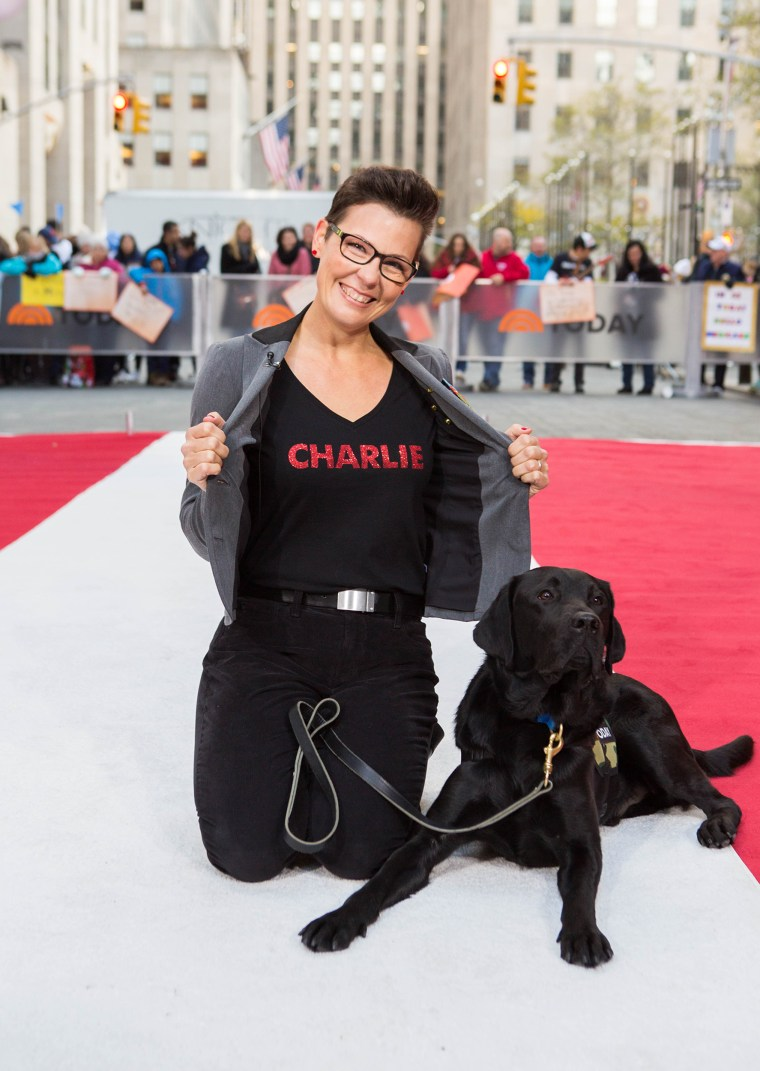 Over the last 14 months, TODAY puppy Charlie has grown into a full-fledged service dog in training. Watch the emotional moment that Charlie meets the new teammate he has been trained to work with: military veteran Stacy Pearsall.