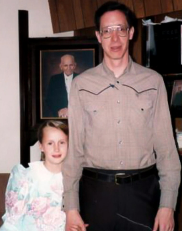 Rachel Jeffs and her father