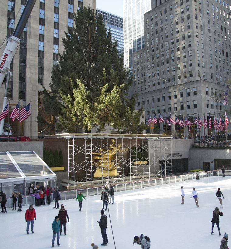 The Rockefeller Center Christmas tree will be on display until Jan. 7, 2018.