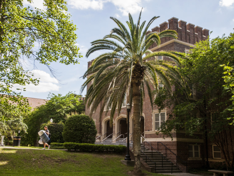 Parents help move their students out at the end of the semester on the campus of Florida State University in Tallahassee in 2015.