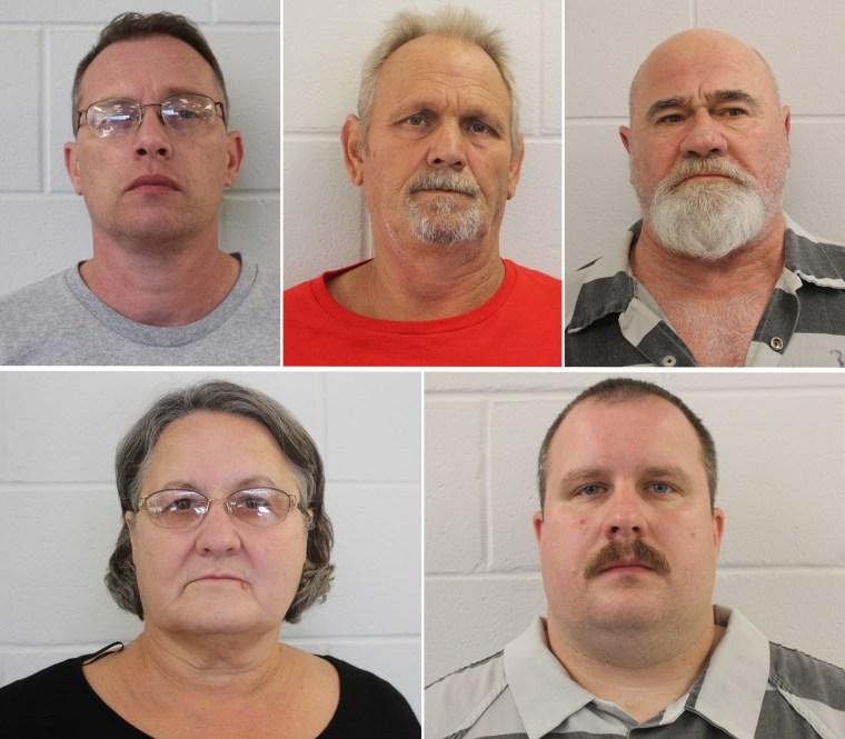 Image: Clockwise, left to right; Gregory Huffman, Bill Moore Sr., Frankie Gebhardt, Sandra Bunn, and Lamar Bunn.