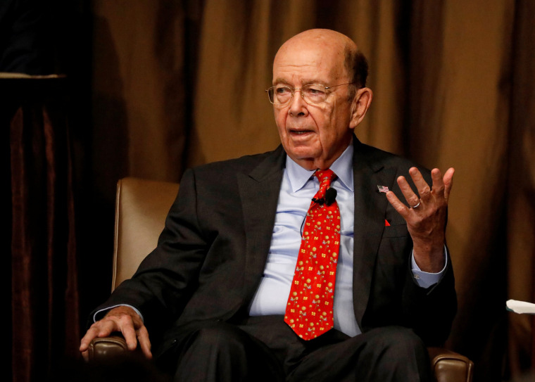 Image: Commerce Secretary Wilbur Ross speaks to the Economic Club of New York in New York