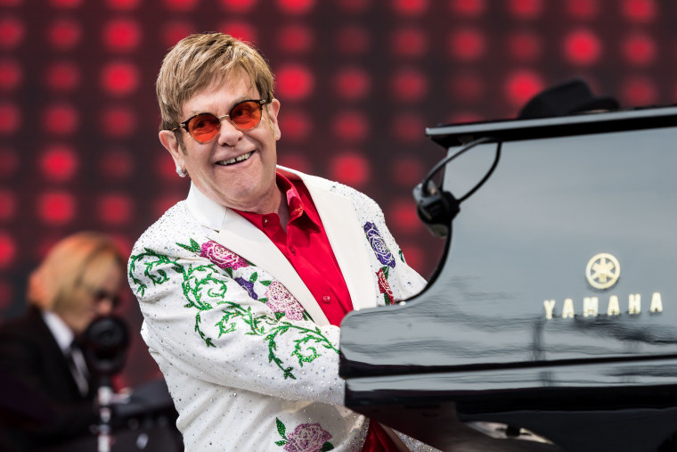 Image: Elton John Performs at the Twickenham Stoop