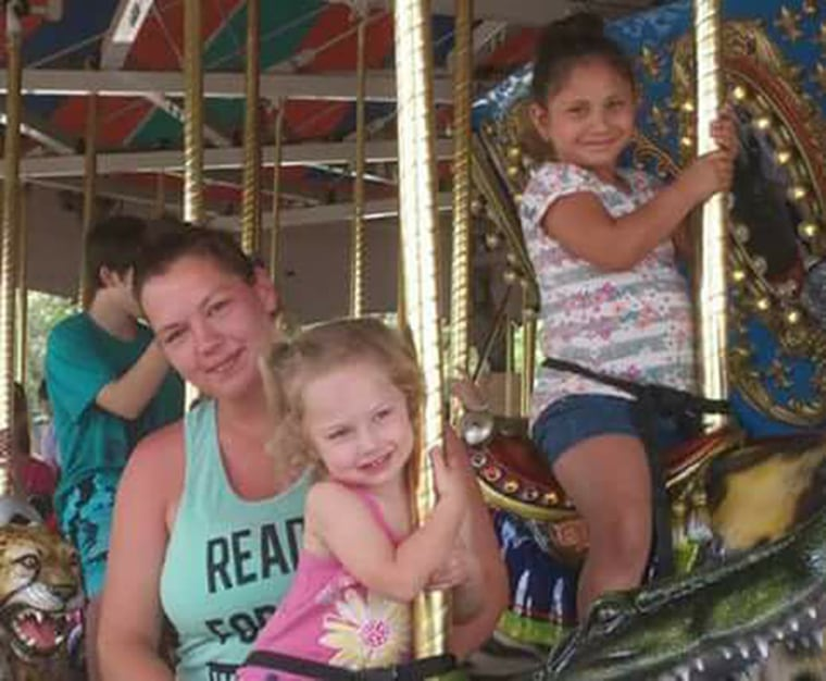 Joann Ward and her daughters Brooke, center, and Emily, upper right, were all killed in the church attack.