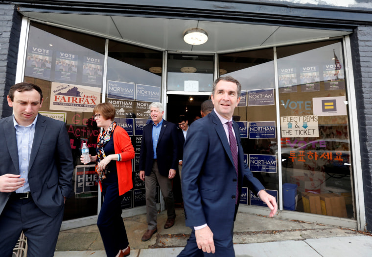 Image: Virginia Lieutenant Governor Ralph Northam leaves a rally in Richmond