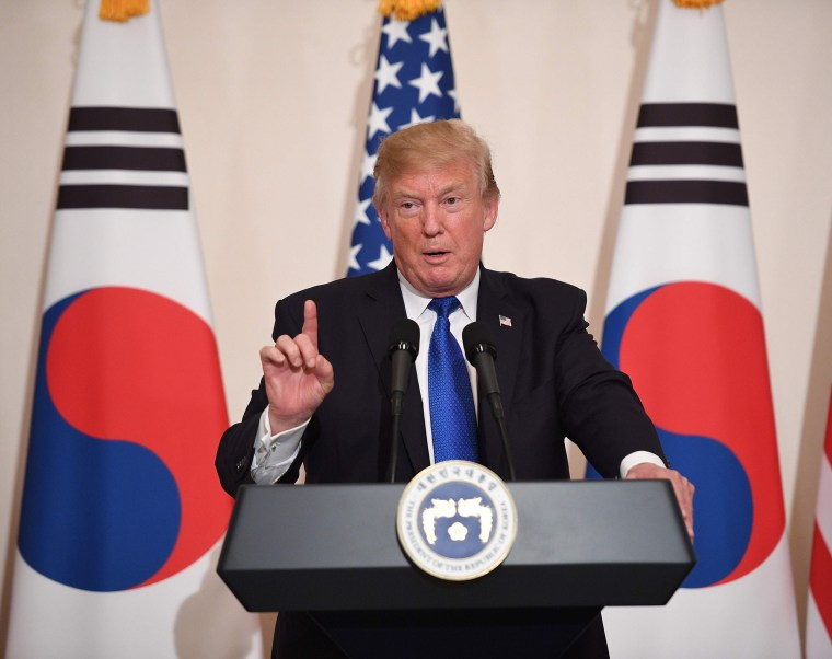 Image: President Donald Trump in South Korea