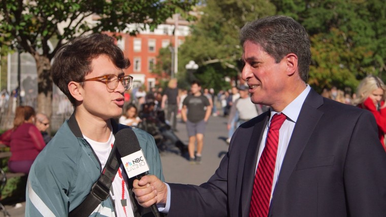 "NBC Latino's Raul Reyes interviews people near NYU about the term ""Latinx."""