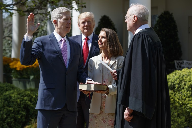 Image: Donald Trump, Neil Gorsuch, Anthony Kennedy