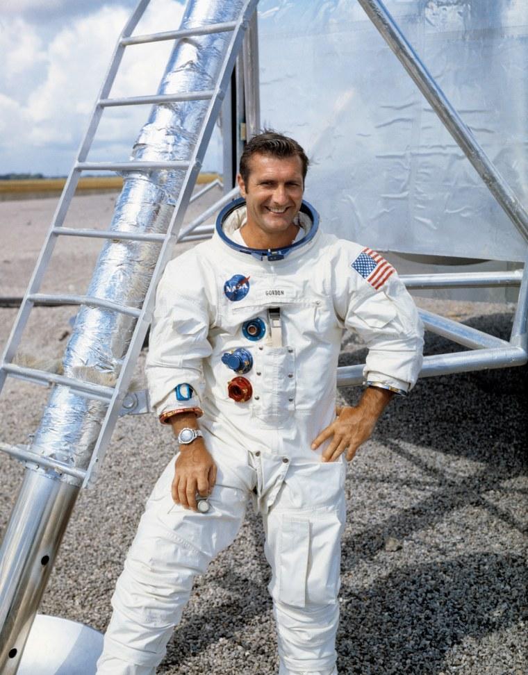 Image: Former NASA astronaut Richard Gordon, command module pilot on Apollo 12, the second lunar landing mission