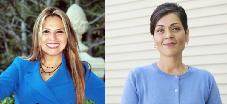 Elizabeth Guzman and Hala Ayala, the first two Latinas ever elected to Virginia's House of Delegates.