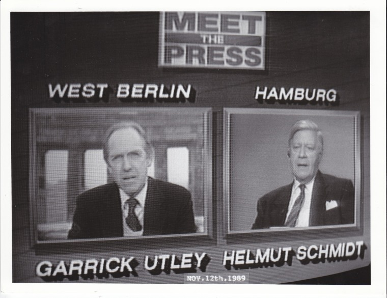Meet the Press broadcast from West Berlin, November 12, 1989.