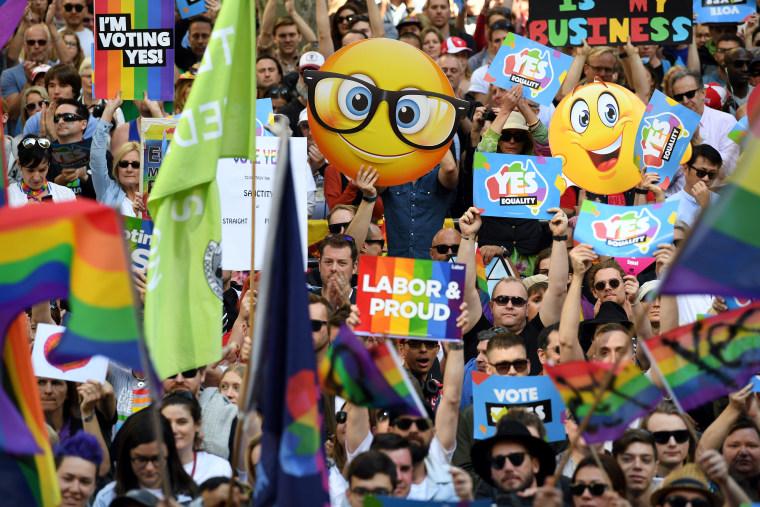 AUSTRALIA-POLITICS-MARRIAGE-RIGHTS-GAY
