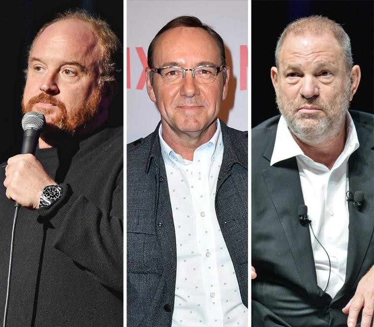 Image: Louis C.K., Kevin Spacey, Harvey Weinstein