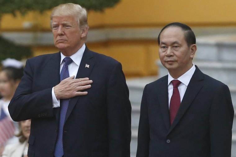 Image: US President Donald Trump and Vietnam's President Tran Dai Quang