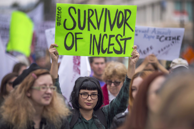 Image: March for sexual assault victims in Los Angeles